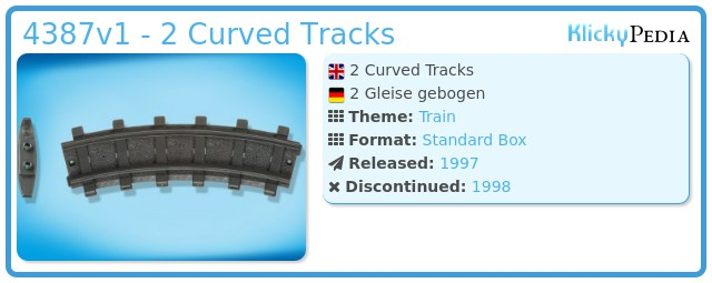 Playmobil 4387v1 - 2 Curved Tracks