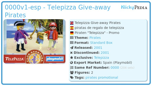 Playmobil 0000v1-esp - Telepizza Give-away Pirates
