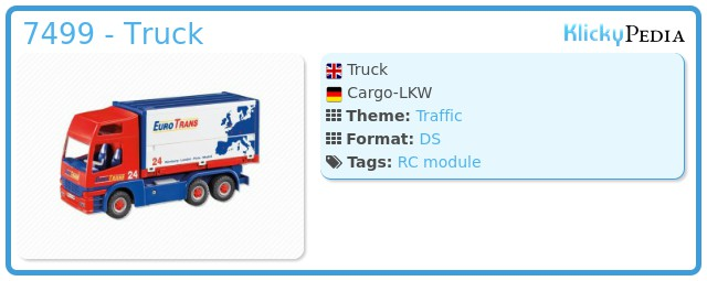 Playmobil 7499 - Truck