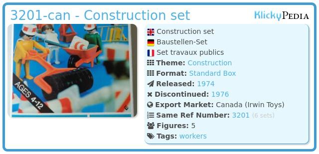 Playmobil 3201-can - Construction set