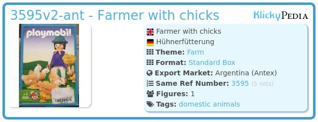 Playmobil 3595v2-ant - Farmer with chicks