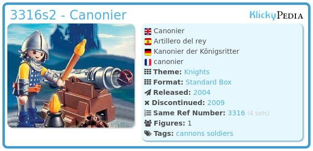 Playmobil 3316s2 - Canonier