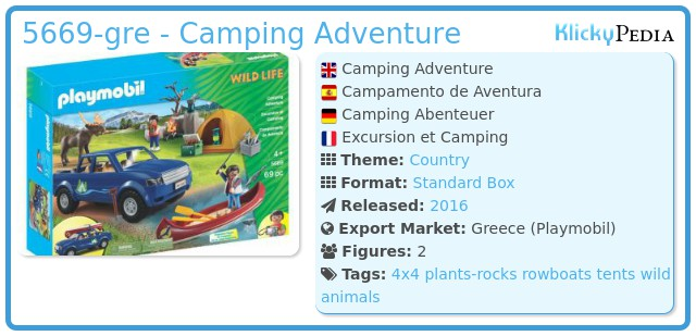 Playmobil 5669-gre - Camping Adventure