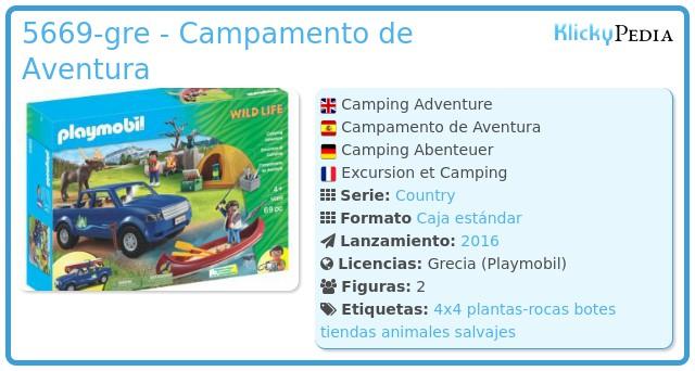 Playmobil 5669-gre - Campamento de Aventura