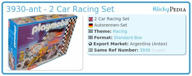 Playmobil 3930-ant - 2 Car Racing Set