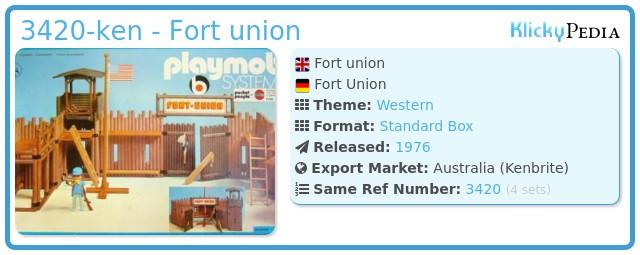 Playmobil 3420-ken - Fort union