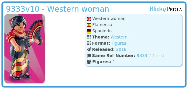 Playmobil 9333v10 - Western woman