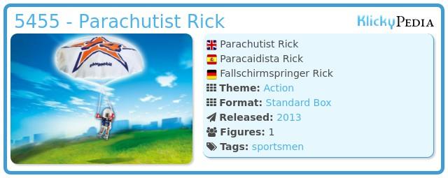 Playmobil 5455 - Fallschirmspringer Rick