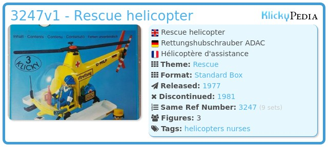 Playmobil 3247v1 - Rescue helicopter