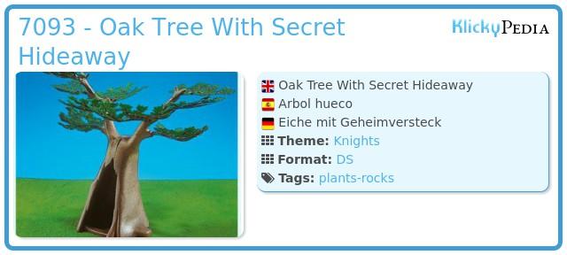 Playmobil 7093 - Oak Tree With Secret Hideaway