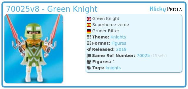Playmobil 70025v8 - Green Knight / Superhero