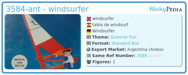 Playmobil 3584-ant - windsurfer