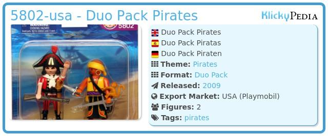 Playmobil 5802-usa - Duo Pack Pirates