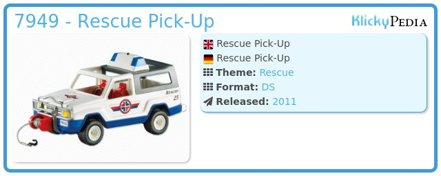 Playmobil 7949 - Rescue Pick-Up