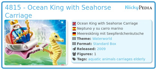 Playmobil 4815 - Ocean King with Seahorse Carriage