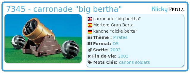 Playmobil 7345 - carronade