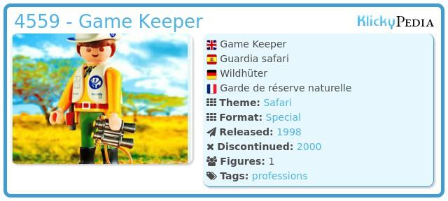 Playmobil 4559 - Game Keeper