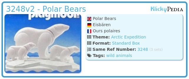 Playmobil 3248v2 - Polar Bears