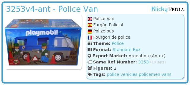 Playmobil 3253v2-ant - Police Van