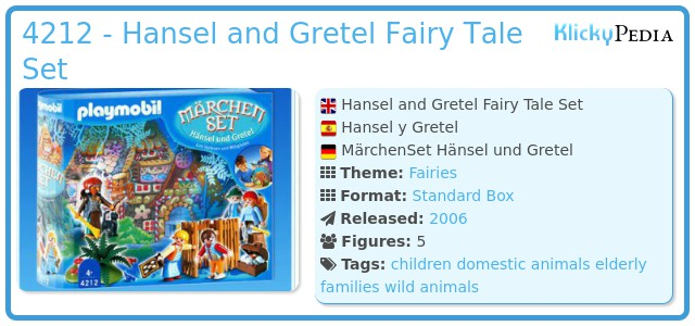Playmobil 4212 - Hansel and Gretel Fairy Tale Set