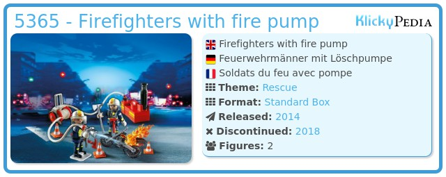 Playmobil 5365 - Firefighters with fire pump