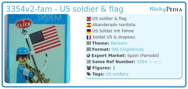 Playmobil 3354v2-fam - US soldier & flag