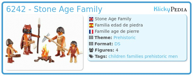 Playmobil 6242 - Stone Age Family