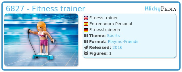 Playmobil 6827 - Fitness trainer
