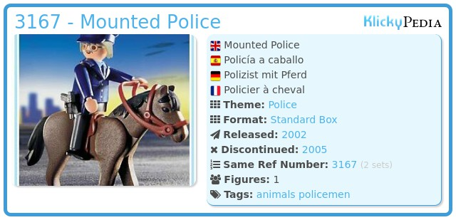 Playmobil 3167 - Mounted Police