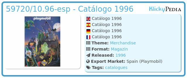 Playmobil 59720/10.96-esp - Catálogo 1996