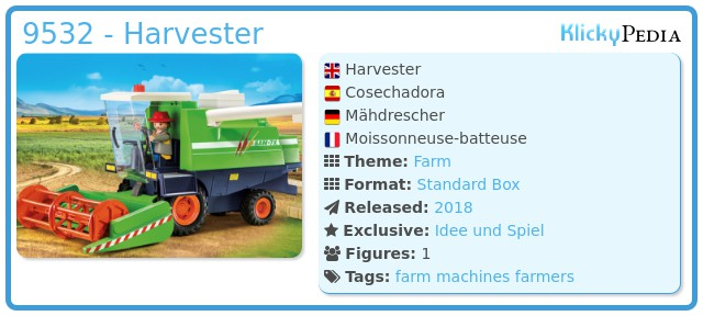 Playmobil 9532 - Harvester
