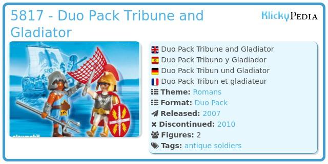 Playmobil 5817 - Duo Pack Tribun and Gladiator