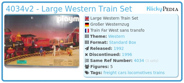 Playmobil 4034v2 - Large Western Train Set