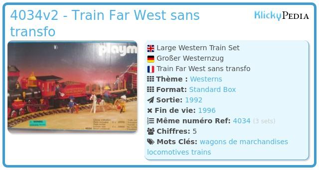 Playmobil 4034v2 - Set grand train Western