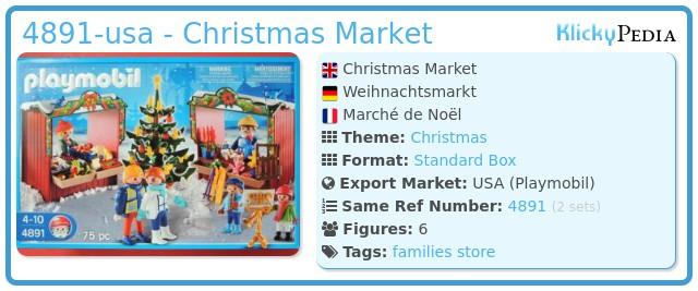 Playmobil 4891-usa - Christmas Market