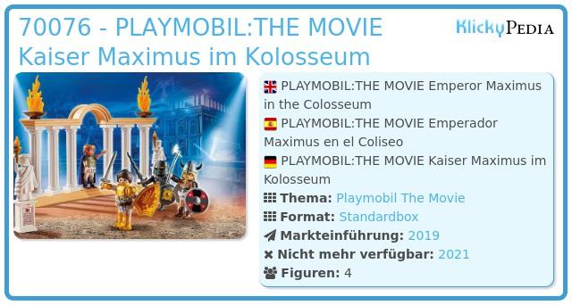 Playmobil 70076 - PLAYMOBIL:THE MOVIE Kaiser Maximus im Kolosseum