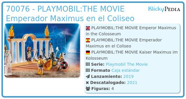Playmobil 70076 - PLAYMOBIL:THE MOVIE Emperor Maximus en el Coliseo