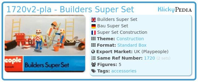 Playmobil 1720v2-pla - Builders Super Set