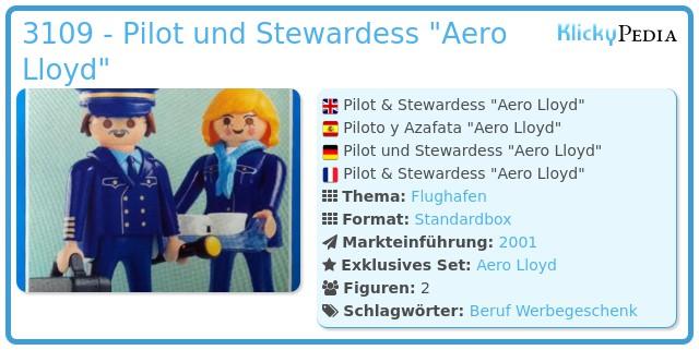 Playmobil 3109 - Pilot und Stewardess