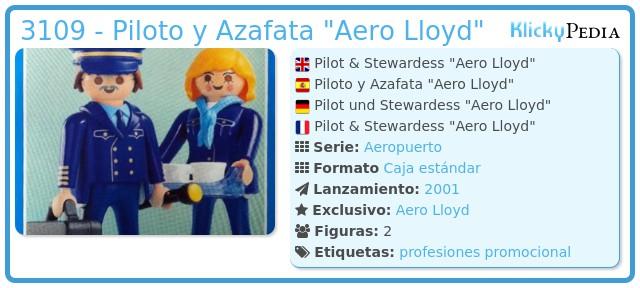 Playmobil 3109 - Piloto y Azafata