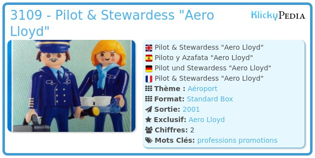 Playmobil 3109 - Pilot & Stewardess