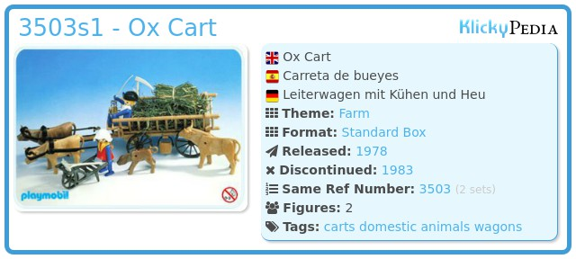 Playmobil 3503s1 - Ox Cart