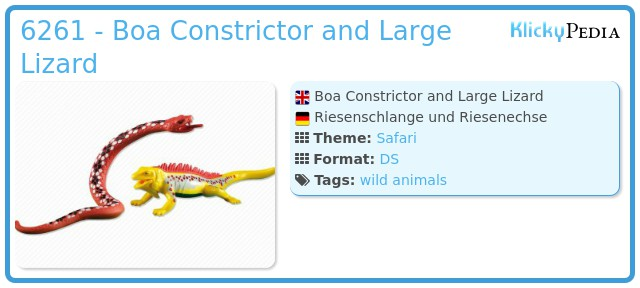 Playmobil 6261 - Boa Constrictor and Large Lizard