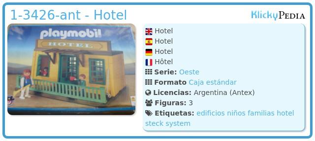 Playmobil 1-3426-ant - Hotel