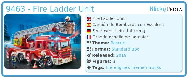 Playmobil 9463 - Fire Ladder Truck
