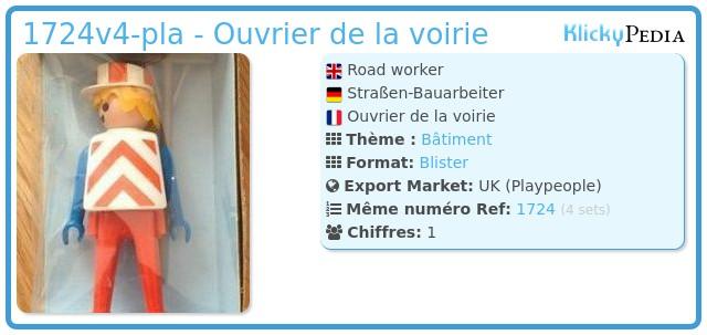Playmobil 1724v4-pla - Ouvrier de la voirie