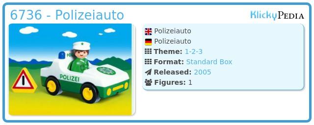 Playmobil 6736 - Polizeiauto