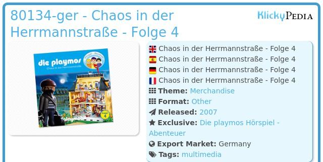 Playmobil 80134 - Chaos in the Hermannstraße (4) - CD