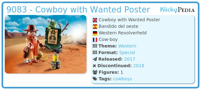 Playmobil 9083 - Cowboy with Wanted Poster