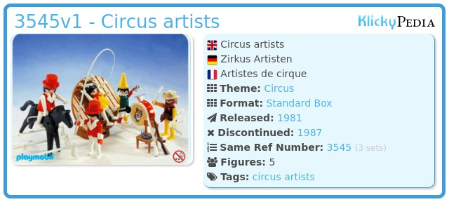 Playmobil 3545v1 - Circus artists